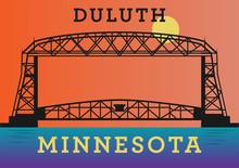 Aerial Ferry Bridge On Duluth