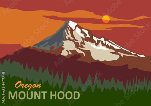 Fotografía  Mount Hood in Oregon