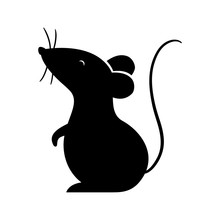 Isolated Mouse Silhouette Vector Design