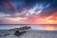 Baltic Sea Beach During Sunris...