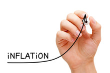 High Inflation Rate Graph Arrow Concept