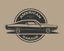 American Muscle Car Vector. Su...