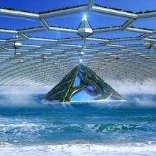 Futuristic Architecture With A...