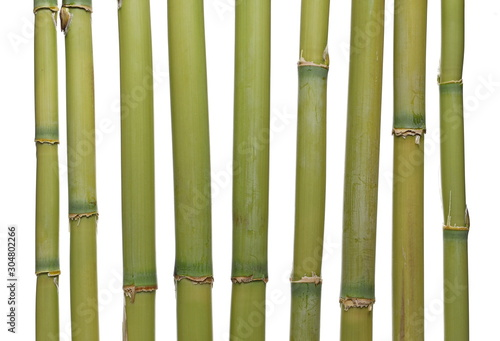 Bamboo bars isolated on white background and texture Fototapet
