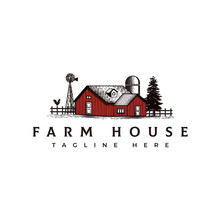 Vintage Farm House Logo Design...