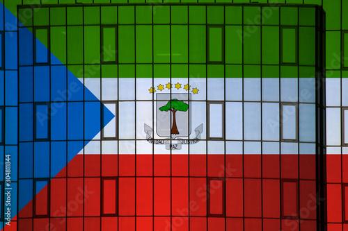 Fotografía Equatorial Guinea flag on the background texture