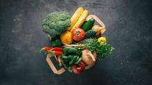 Bag Food Concept.  Paper Bag R...