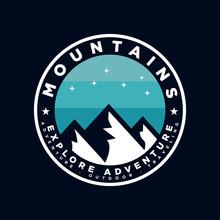 Badge Mountain Logo Design Ins...