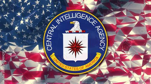 flag of the us central intelligence agency country symbol illustration Secret Se Fototapet