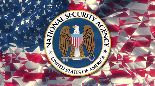 flag of the us national security agency country symbol illustration (NSA) Canvas Print
