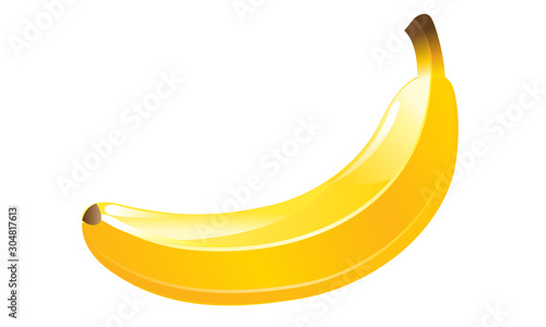 banana vector isolated high quality Canvas-taulu