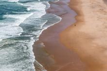 Single Person Walking Praia Gr...
