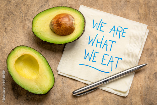 We are what we eat - healthy eating concept