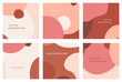 Vector set of abstract creative backgrounds in minimal trendy style with copy space for text - design templates for social media posts and stories