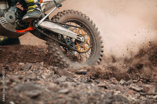 Details of debris in a motocross race . Fototapet