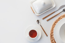 White Ceramic Tableware, Fibre...
