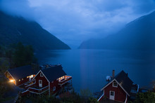 Norway Fjord At Blue Hour