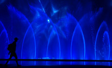 Colorful Water Fountains. Beau...