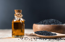 Glass Bottle Of Black Cumin Se...