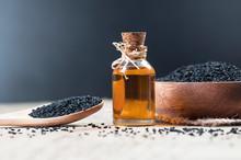 Glass Bottle Of Black Cumin Se...