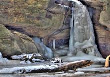 Lower Falls In Winter In Conkl...