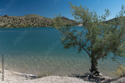 Bill Evans Lake in  New Mexico near Silver City. Canvas Print