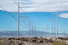 High Voltage Power Transmission Lines Outside Las Vegas, Nevada