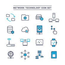 NETWORK TECHNOLOGY ICON SET