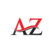 AZ Letter Linked Logo. AZ Lett...