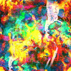 Grunge abstract colorful texture with mud. Watercolor multicolored acrylic dirty pattern with wave effect. Fractal Background with mixed colors. Fluid colored rust. Spreading caramel and candy