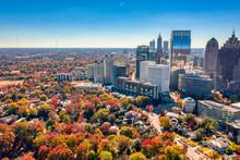 Where Suburban Houses And Downtown Atlanta Buildings Meet