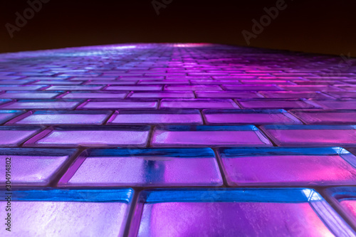 Fotografie, Tablou Glass Brick Texture