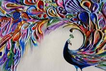 Peacock, Artwork In Mixed Medias