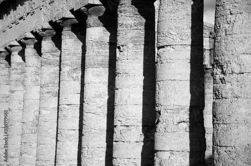 Colonne del Tempio Dorico di Segesta (Trapani, Sicilia) Fototapet