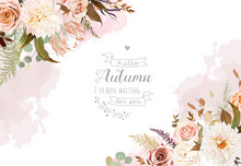 Rose Flowers, Protea,ranunculus, Dahlia, Pampas Grass,fern