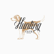 Hunting Dog Label