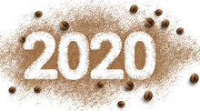 2020 Coffee Text Number Design...