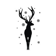 Silhouette Of A Deer With Horns