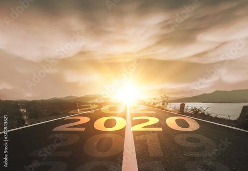 plakat Start Your Life Happy New Year 2020