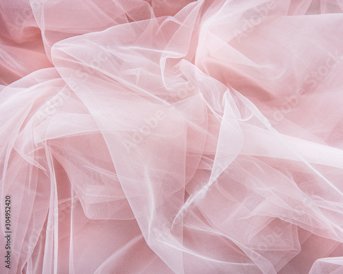 Pink tulle background Canvas Print