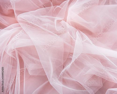 Fotografie, Obraz Pink tulle background