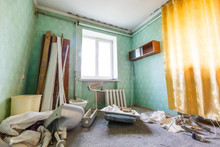 Devastated Kitchen In A Demoli...