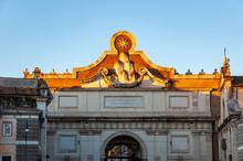 Rome Italy. Internal Facade Of...