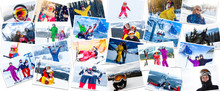 Big Photo Collage Of Winter Sp...