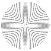 Line In Circle Form. Single Th...