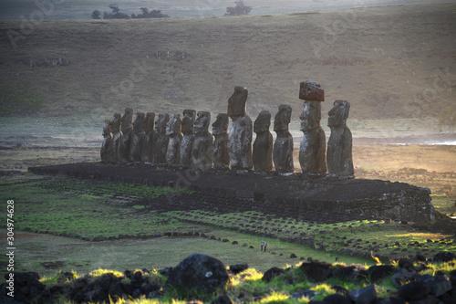 Photo Ahu Tongariki Moai at Easter Island