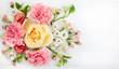 canvas print picture - Festive floral composition.