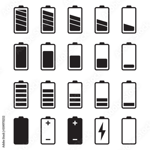 Photo Battery Vector