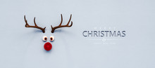 Reindeer Toy With Red Nose Chr...