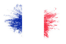 Flag Of France With Texture. ...